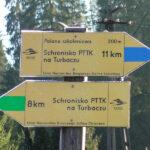 Drogowskazy narciarskich tras biegowych w Obidowej