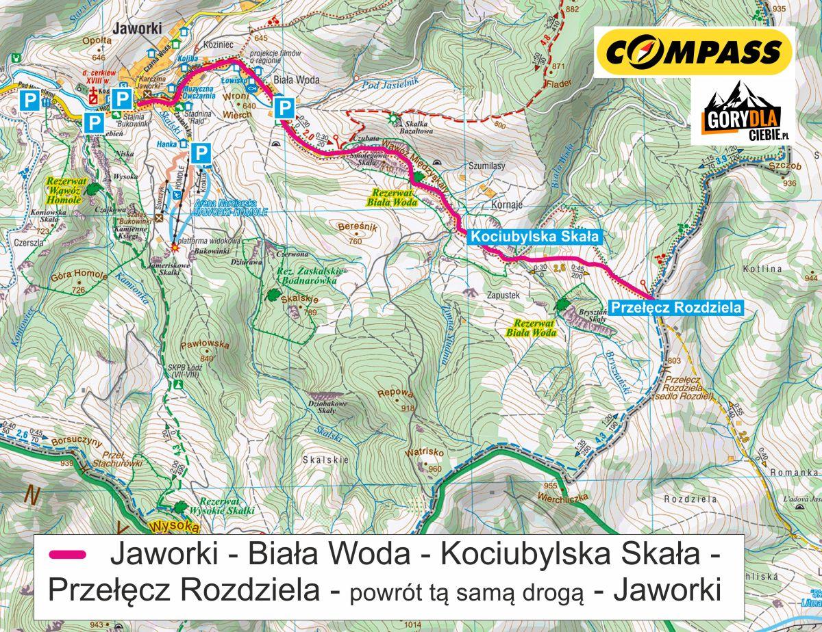 Biała Woda - mapa trasy