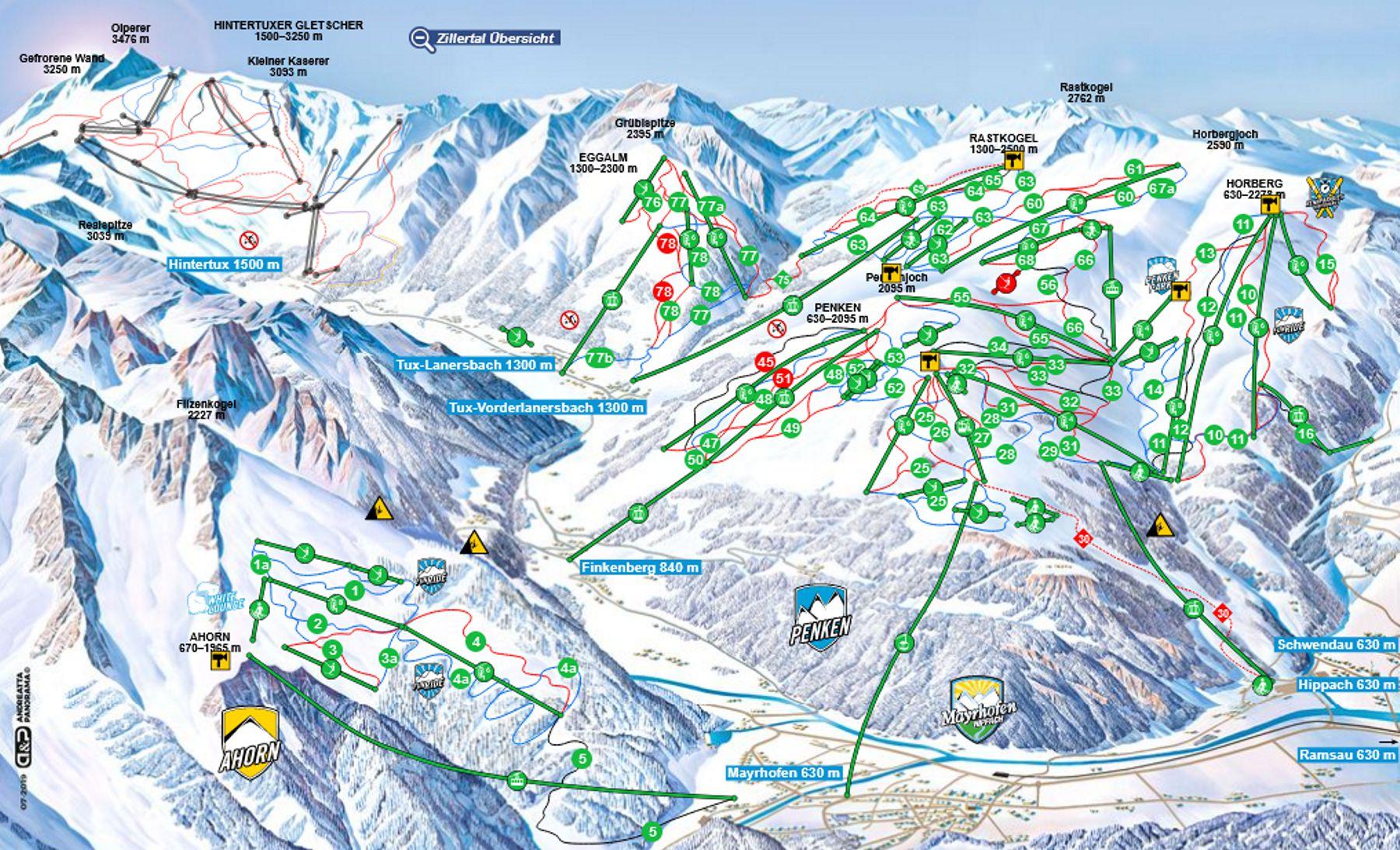 Mapa interaktywana Mayrhofen