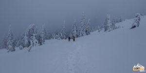 Na przełęczy na wys. 1684 m, u stóp Popa Iwana