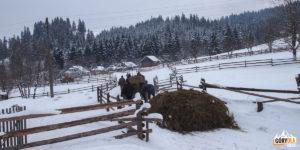 Chodak Wełyki - typowa huculska wieś