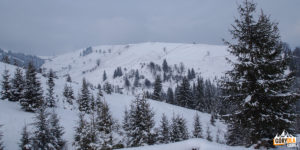 Przełęcz za wsią Chodak Wełyki