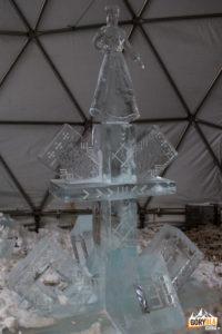 Wystawa lodowych rzeźb wykonanych wramach imprezy TATRY ICE MASTER