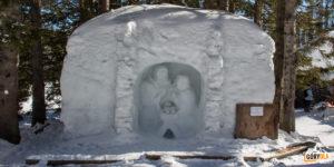 Śnieżny żłóbek zaraz przy Rainerowej Chacie