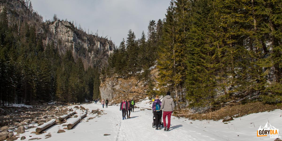 Dolina Kościeliska jest idealnym miejscem spacerów iwycieczek, sporo tu wycieczek szkolnych, odwiedzają ją też rodziny zdziećmi