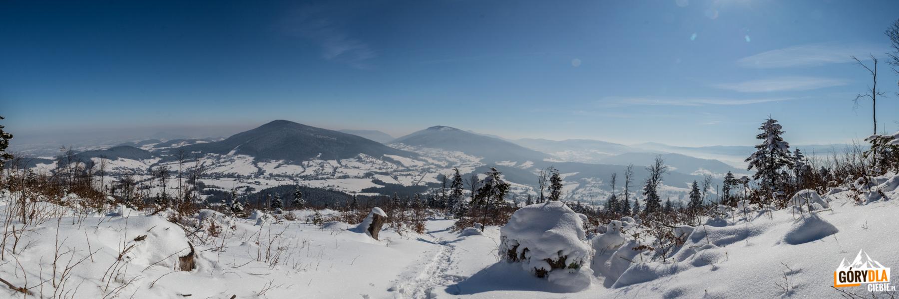 Panorama zpodejścia naLubogoszcz