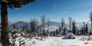 Panorama z podejścia na Lubogoszcz