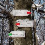 Znaki na szczycie Lubogoszczy