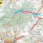 Lubogoszcz czerwonym szlakiem z polany Mogiła - mapa trasy