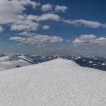 Widoki ze szczytu Ďurkova (1749 m) na Wielką Fatrę i Salatin (1630 m)