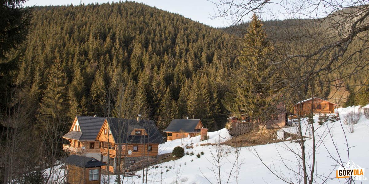 Drewniane domki w Magurce