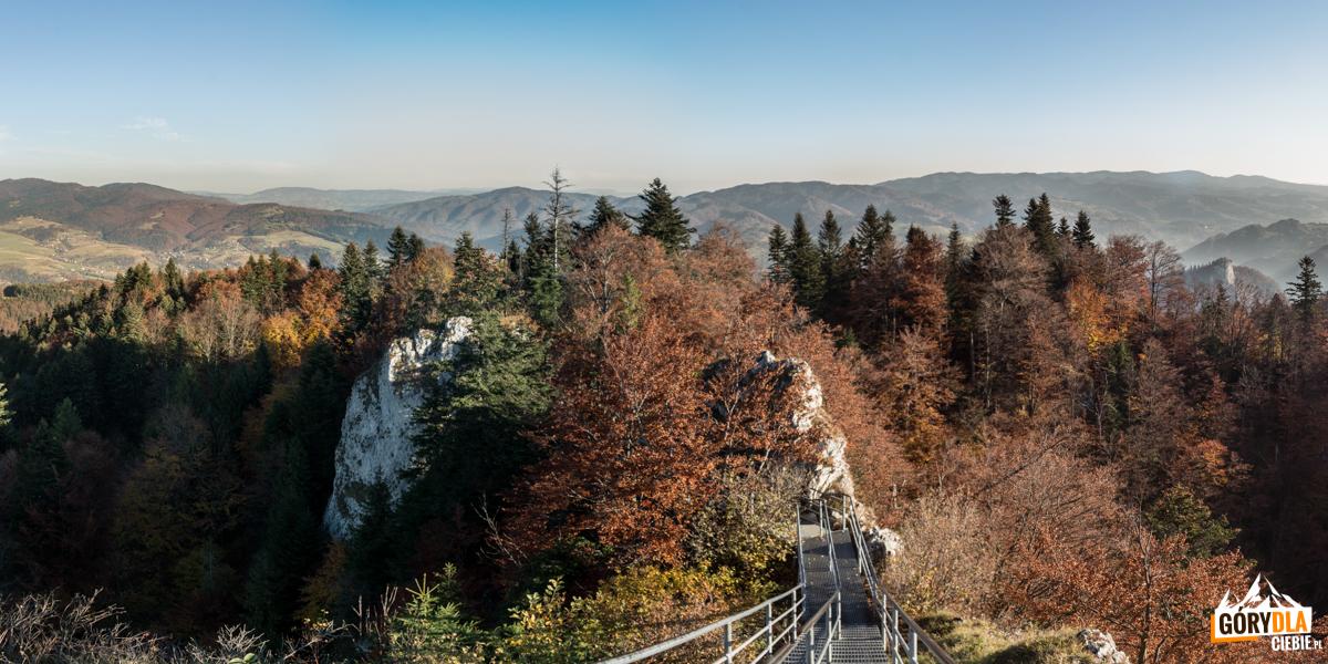 Panorama ze szczytu Trzech Koron