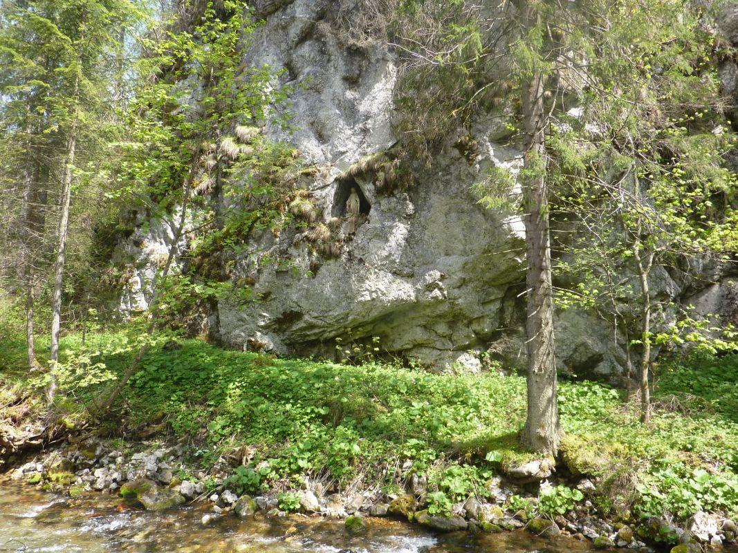 Figura św. Katarzyny w Dolinie Kościeliskiej. zdj. Waldemar Rusek