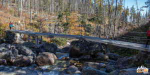 Mostek przy Wielkim Wodospadzie (Veľký vodopád)