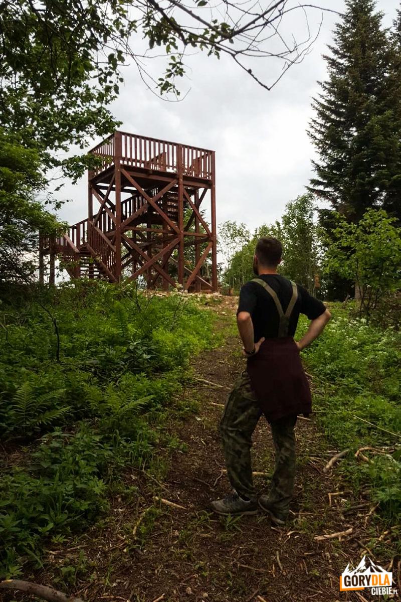 Wieża widokowa na górze Żar (Pieniny Spiskie)