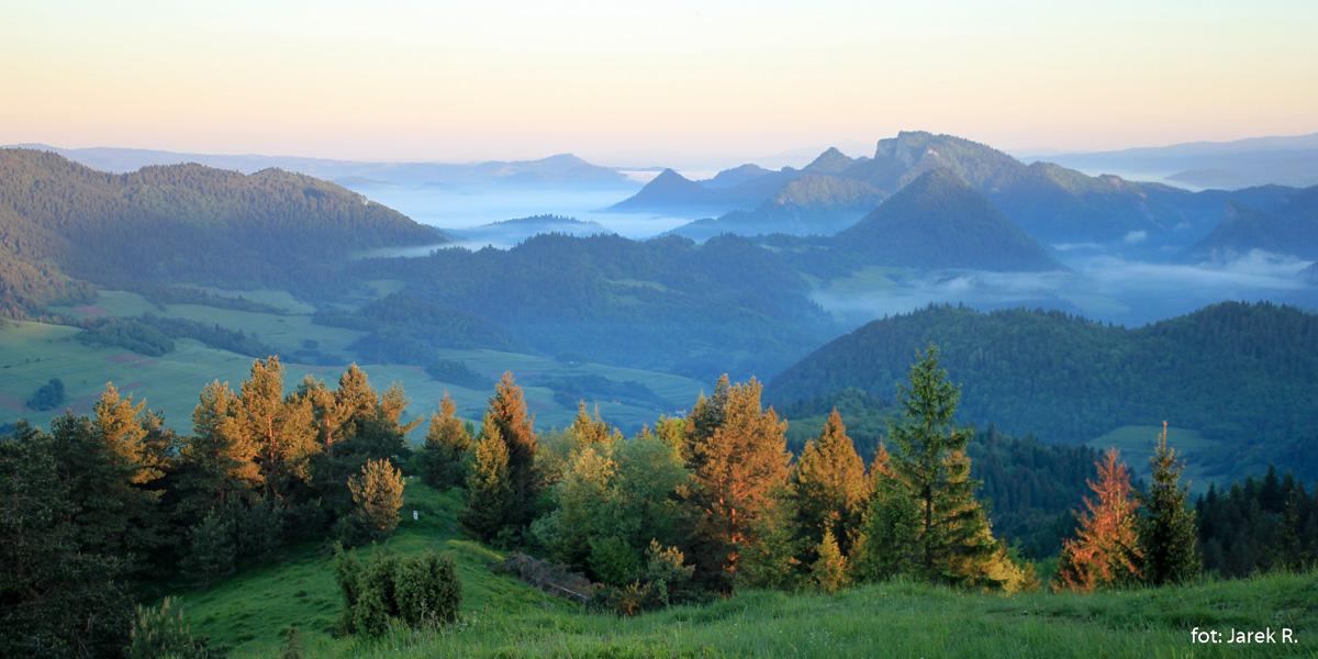 Wschód słońca z Wysokiego Wierchu, zdj. J. Rusiecki