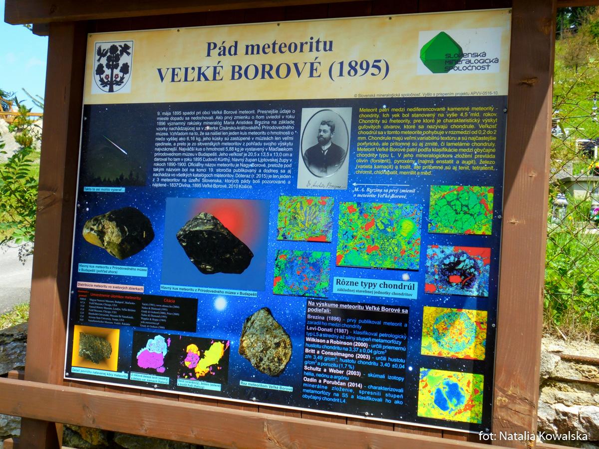 Tablica informacyjna we wsi Wielkie Borowe, zdj. Natalia Kowalska