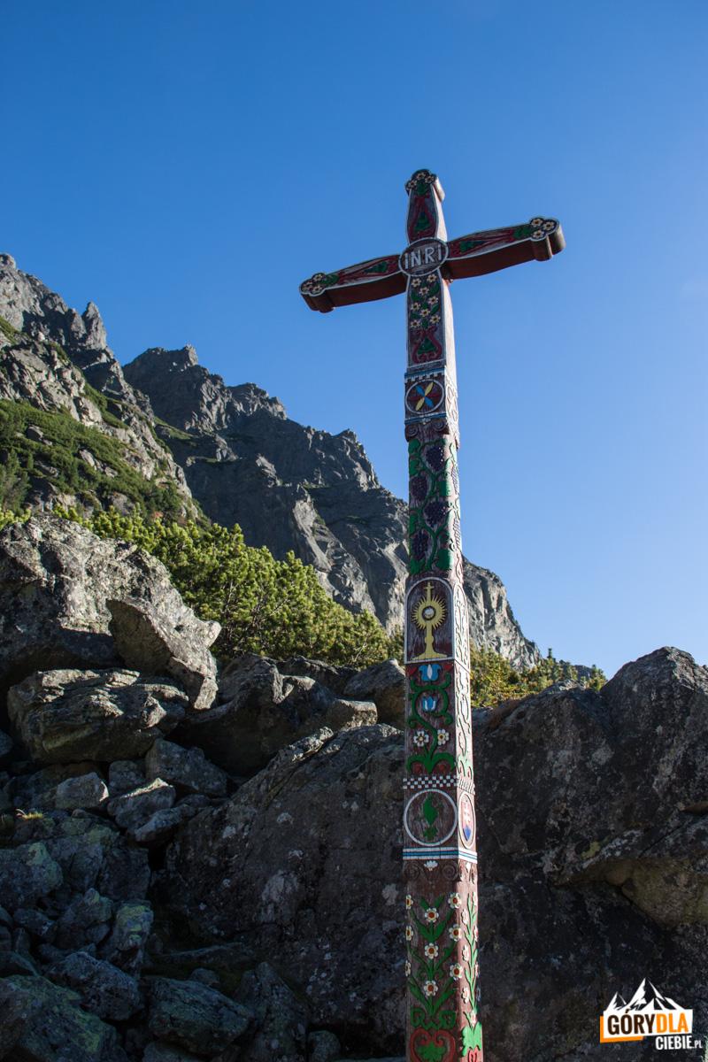 Krzyż na Tatrzańskim Cmentarzu Symbolicznym pod Osterwą