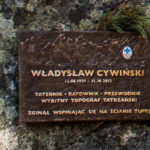 Tatrzański Cmentarz Symboliczny pod Osterwą - tablica pamięci Władysława Cywińskiego