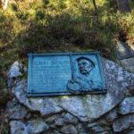 Tatrzański Cmentarz Symboliczny pod Osterwą - tablica pamięci Klimka Bachledy