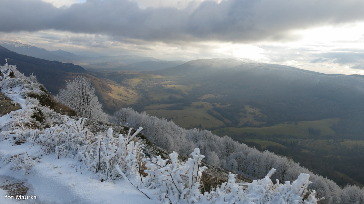 Prawie zimowe Bieszczady, zdj. Maurka