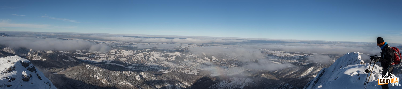 Panorama z Giewontu w kierunku północnym