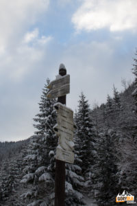 Drogowskazy szlaków przed Wielką Polaną Małołącką