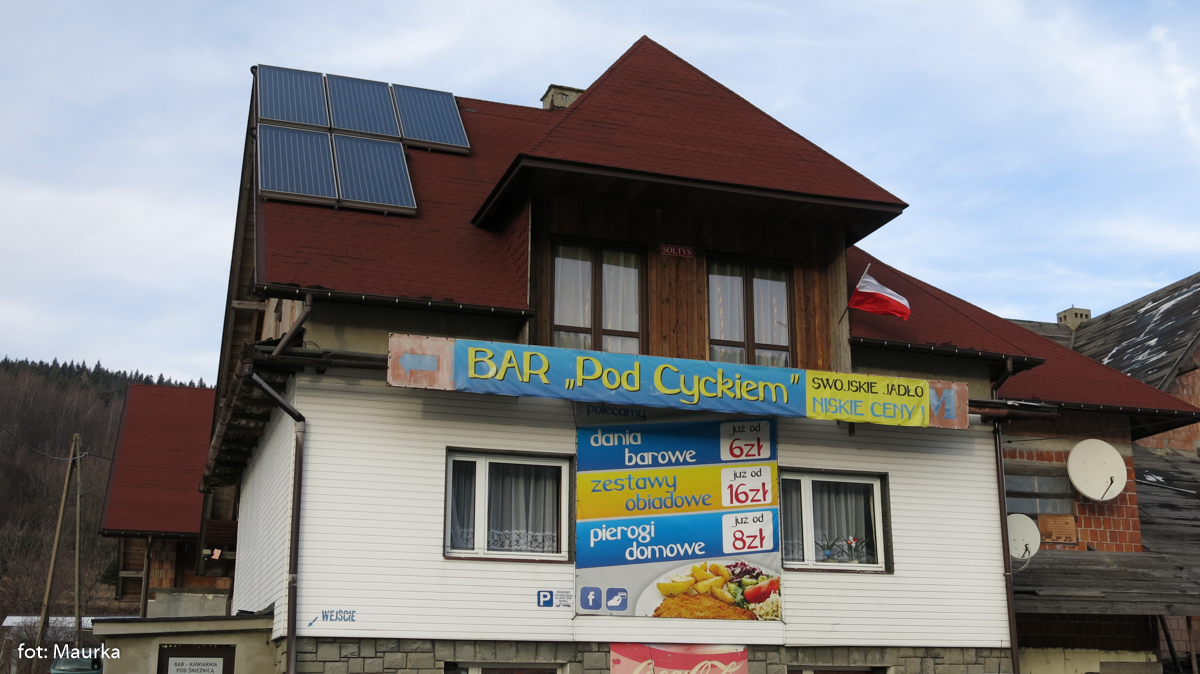 Bar pod Cyckiem na Przełęczy Gruszowiec, zdj. Maurka