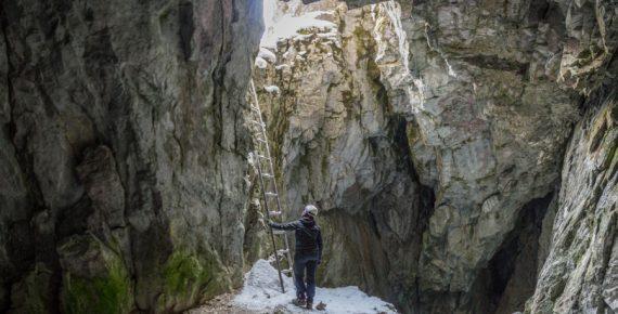 Drabinka w Jaskini Raptawickiej
