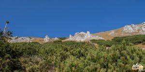 Formacje skalne na zboczach Bielańskiej Kopy (1835 m)