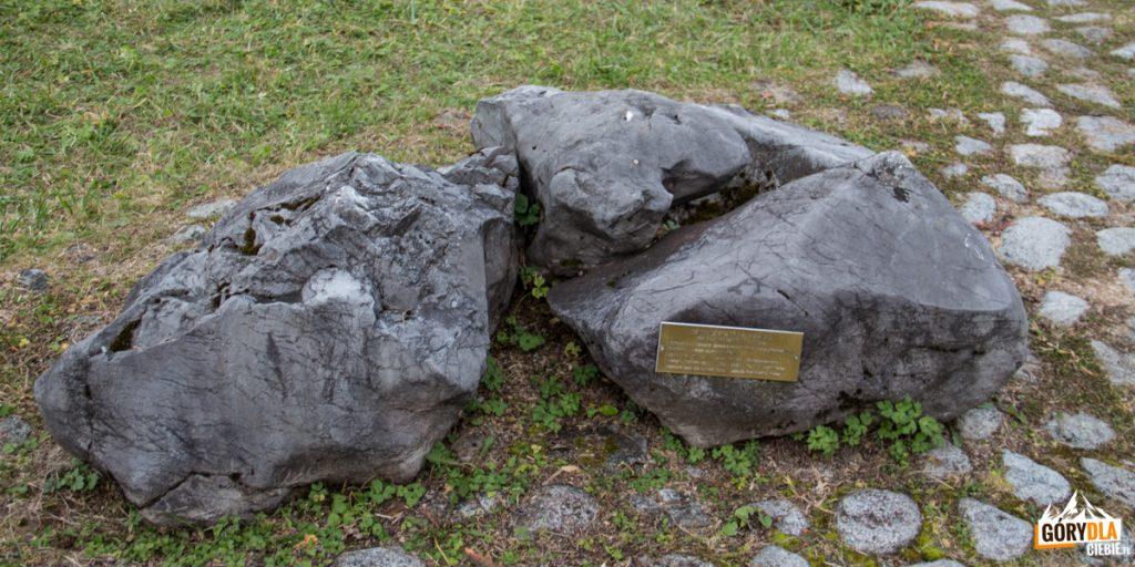 Wystawę fragmentów różnych skał Tatrzańskich na Gałajdówce (lub Polana pod Muraniem)