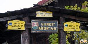 Drogowskazy w Tatrzańskiej Jaworzynie