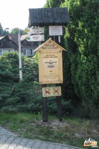 Drogowskazy przy ulicy Trzech Koron w Krościenku