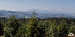 Widoki z drogi zejścia z Wielkiego Rogacza na Przełęcz Obidza
