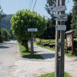 Kosarzyska - miejsce zejścia niebieskiego szlaku z Eliaszówki