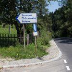 Kosarzyska - droga do Stanicy Harcerskiej