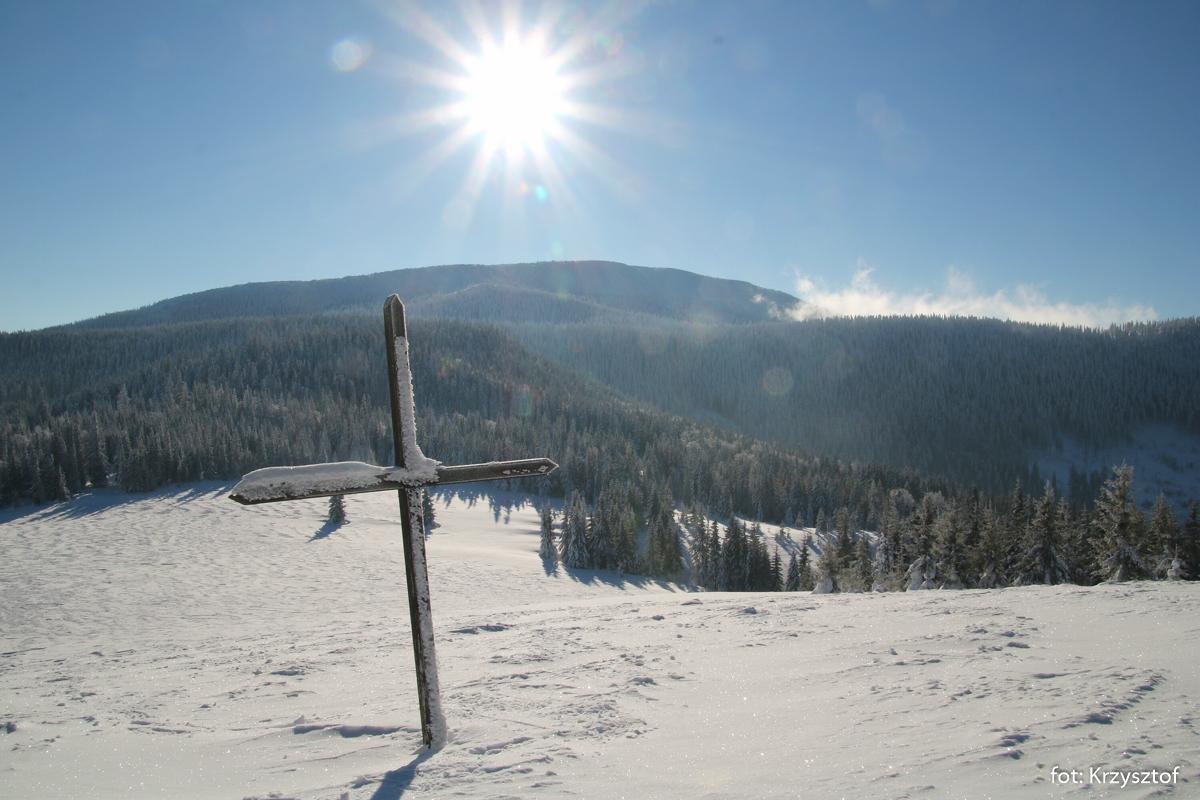Widok z Hali Jodłowcowej na Pilsko