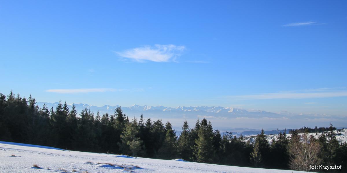 Widok na Tatry z Kucalowej Przełęczy