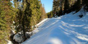 Zejście niebieskim szlakiem z Rysianki do Sopotni