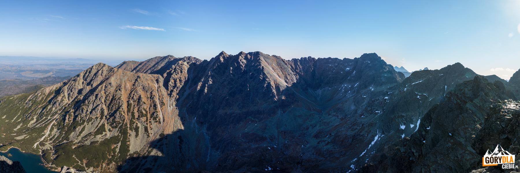 Panorama Orlej Perci ze szczytu Kościelca (2155 m)