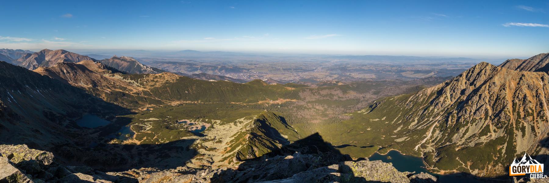 Dolina Gąsienicowa - widok ze szczytu Kościelca (2155 m)