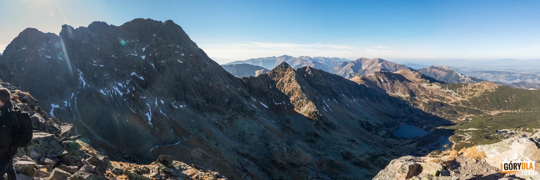 Świnica (2301 m) i Tatry Zachodnie - panorama ze szczytu Kościelca (2155 m)