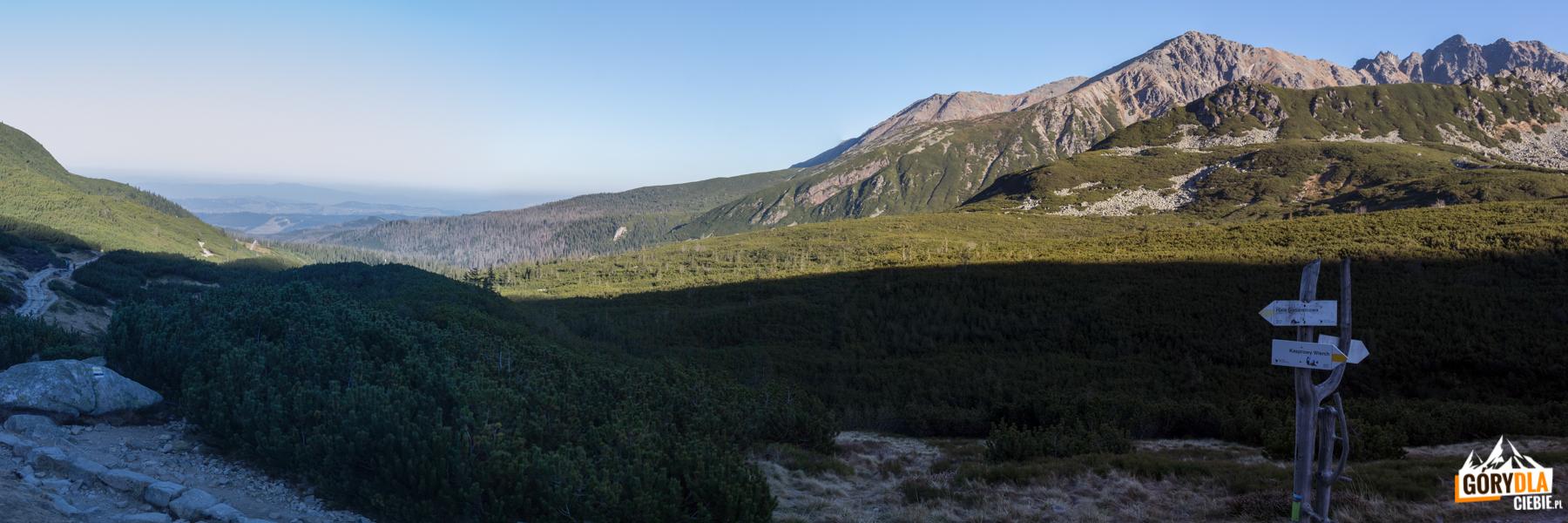 Dolina Gąsienicowa - widok z dolnej stacji wyciągu z Doliny Gąsienicowej na Kasprowy Wierch