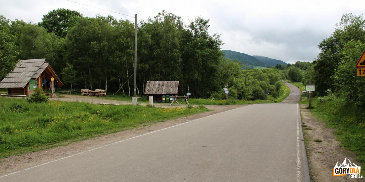 Wołosate -na wprost drogą czerwonego szlaku na Przełęcz Bukowską