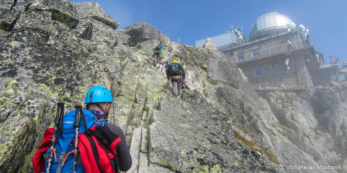 Wspinaczka na szczyt Łomnicy trasą dostępną wyłącznie z przewodnikiem