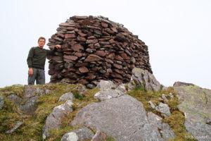 Krzysztof, autor wyprawy na szczycie Cruach Mhór (923 m)