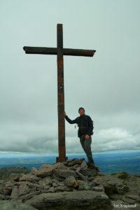 Autor na szczycie Carrantuohill (1039 m)