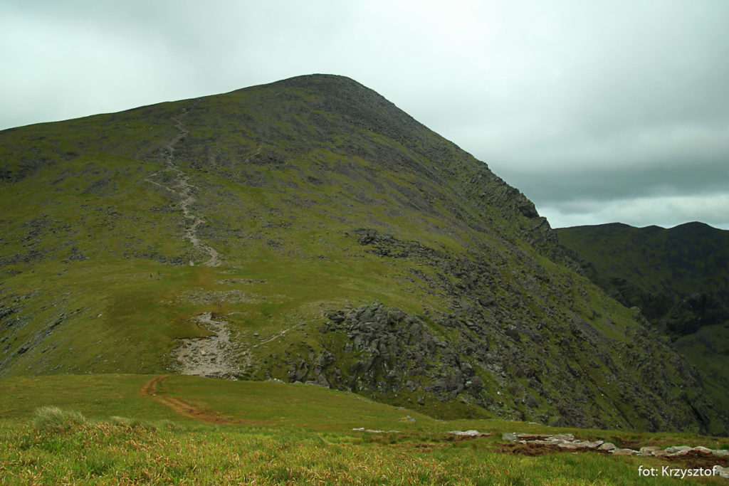 Ostatnie podejście na Carrantouhill - najwyższy szczyt Irlandii