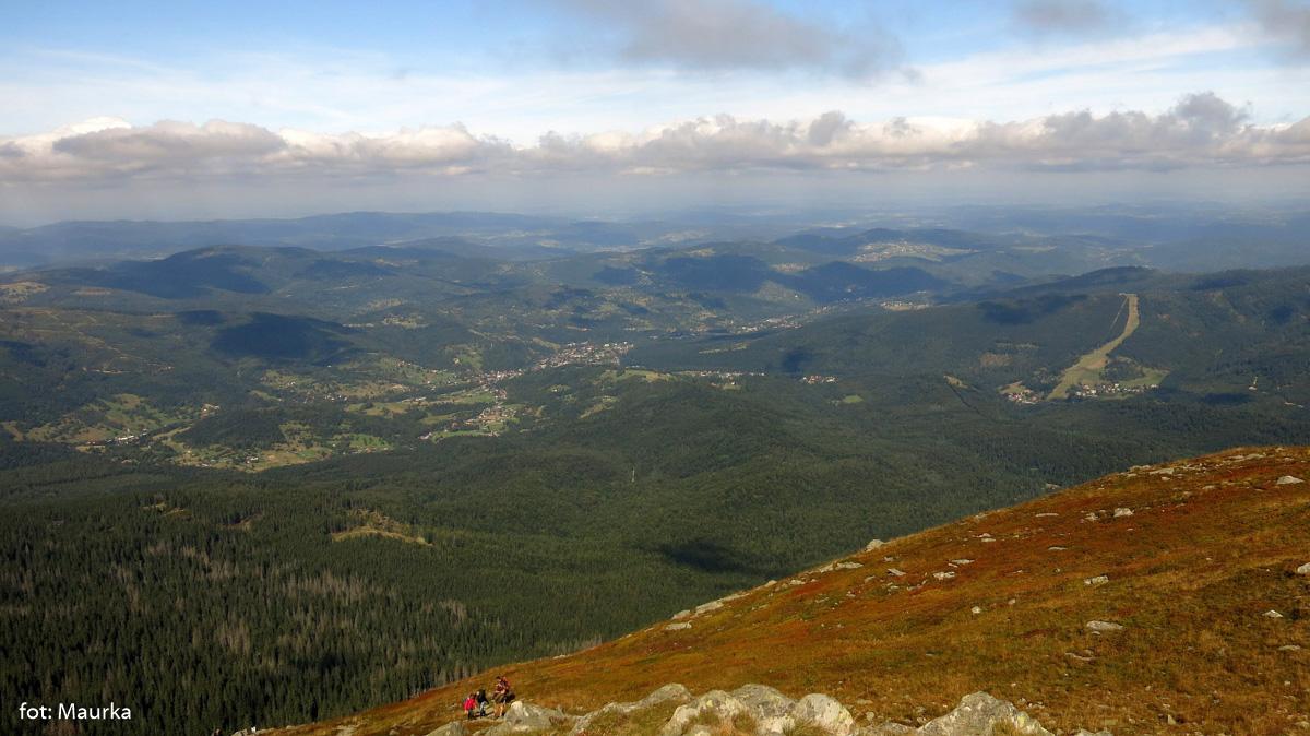 Zawoja i Mosorny Gron widziany z Babiej Góry