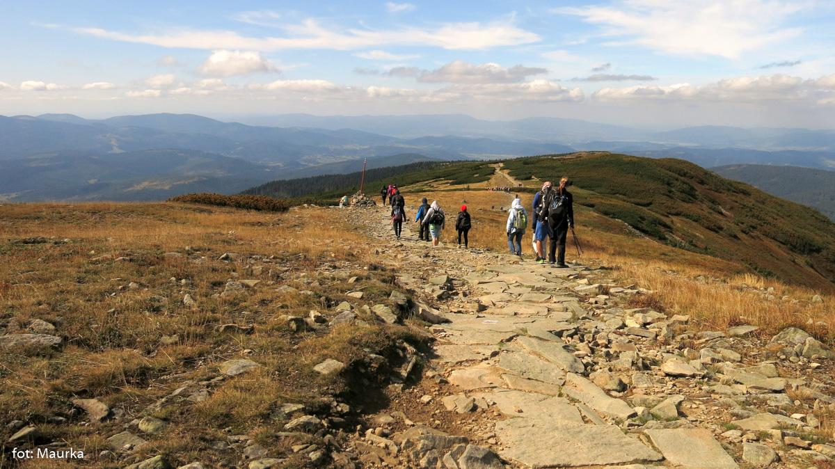 Zejście ze szczytu Diablaka